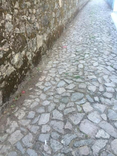 The not so foot friendly Portuguese cobble stones