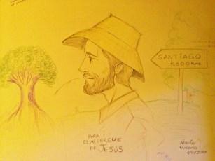 Art in the Casa de Jesus albergue in Villar de Mazarife.