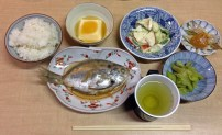 Dinner at Sudachi-kan, just after temple 12. ¥4000 incl dinner, breakfast, entrance fee and driven to the nearest bath house, rice balls for lunch