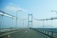 Driving across the Seto Inland sea on the Shimanami bridge