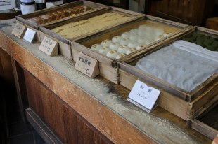 Delicious traditional Japanese sweets in Koyasan