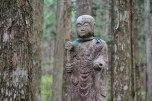 Jizo statue along the Nyoninmichi path, Koyasan
