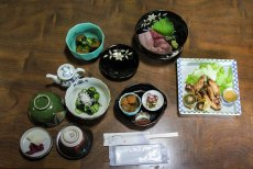 Dinner at Minshuku Idobata in Ise Kashiwazaki on the Iseji route