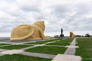 Black Sea Samsun Turkey twin lions