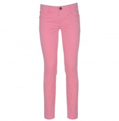 Pantalone cinque tasche in cotone stretch di vestibilità slim con tagli a punta sui fianchi