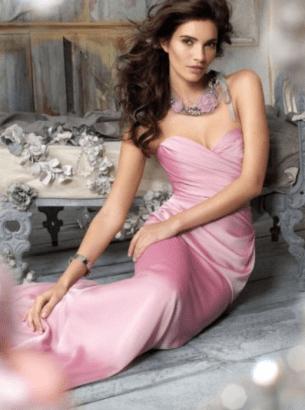 One Shoulder A-Line Sleeveless Floor-Length Chiffon Evening Dress #VJ409