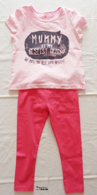 leggings fuxia e t-shirt Mummy