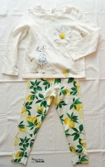 outfit leggings lemon&t-shirt