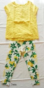 outfit leggings lemon& t-shirt gialla