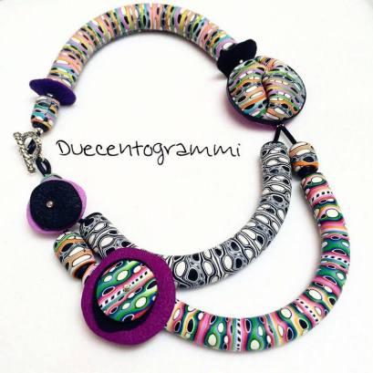 duecentogrammi-gioielli-pasta-polimerica-dettaglio-collana-multicolore-nuova-1