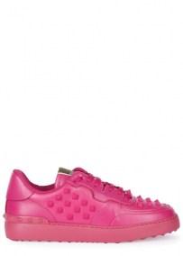 Valentino-fuchsia-leather-trainers-side-495
