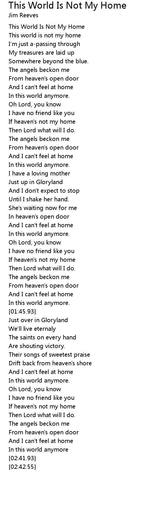 This Is Not My Home Lyrics : lyrics, World, Lyrics, Follow