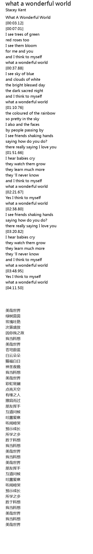 I Hear Babies Cry And I Watch Them Grow Lyrics : babies, watch, lyrics, Wonderful, World, Lyrics, Follow