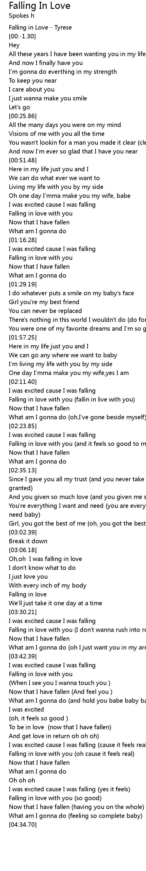 Ooh Baby I Need You In My Life Lyrics : lyrics, Falling, Lyrics, Follow