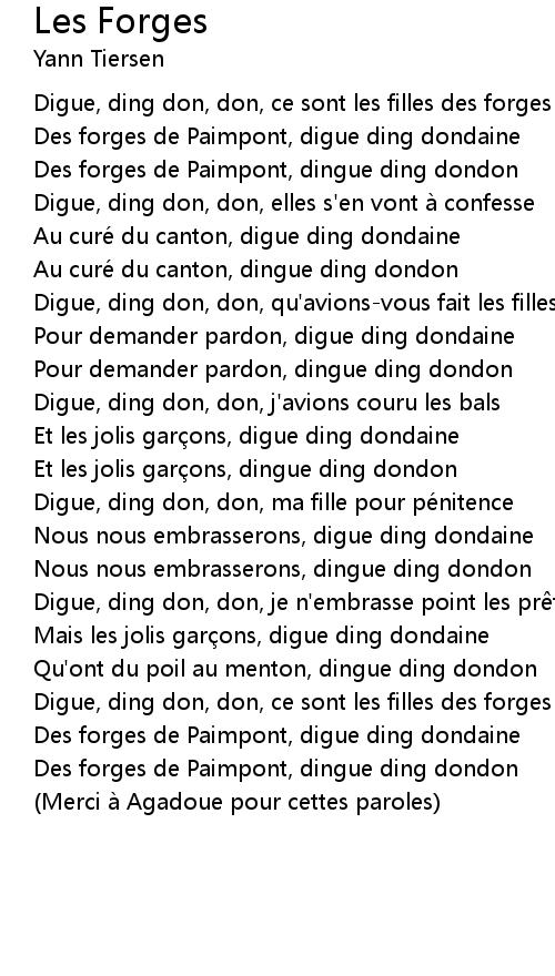 Les Filles Des Forges Paroles : filles, forges, paroles, Forges, Lyrics, Follow