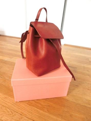 mansur gavriel mini backpack front