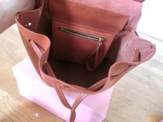 mansur gavriel mini backpack inside details