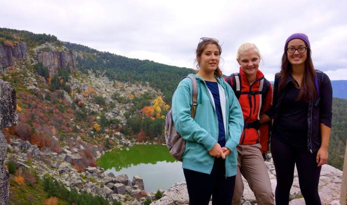 That's Sophia in the middle, she's a Polish girl we met on the hike.