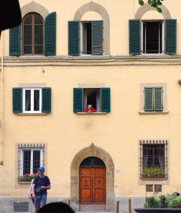 Cute little old woman we saw in Piazza Santo Spirito