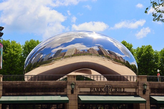 The Cloud Gate, aka, The Bean, is one of the top attractions to see