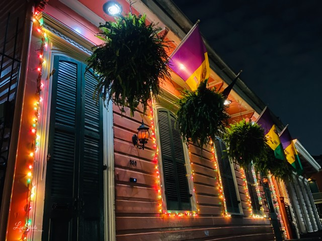 Lovely French Quarter home all light up in New Orleans