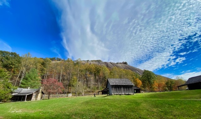 You can find the Hutchinson Homestead on the Stone Mountain Loop Trail
