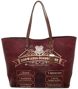 Hogwarts Supply List Leather Tote