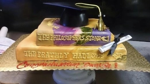 Harry Potter Grad Cake