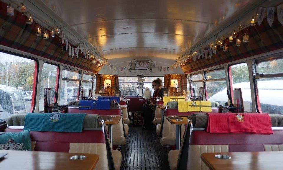 Harrry Potter in Edinburgh - Inside the Harry Potter Bus