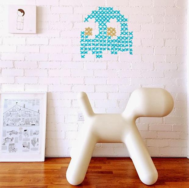decoração washi tape parede