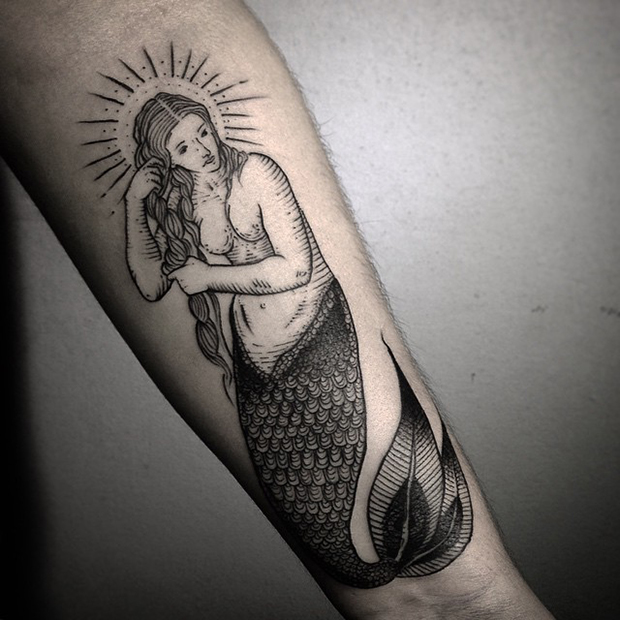 tattoo tatuagem daniel matsumoto sereia