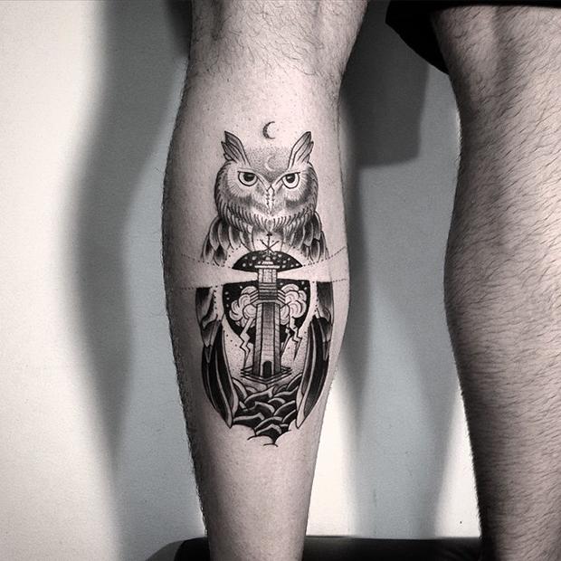 tattoo tatuagem daniel matsumoto coruja