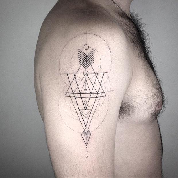 tattoo tatuagem daniel matsumoto braço linework