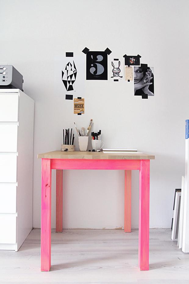 decoração Dip Dye mesa colorido