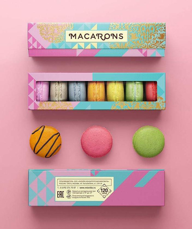 embalagem macarons mixville
