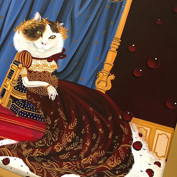 exposição Saramello França Ils sont partout pinturas gatos
