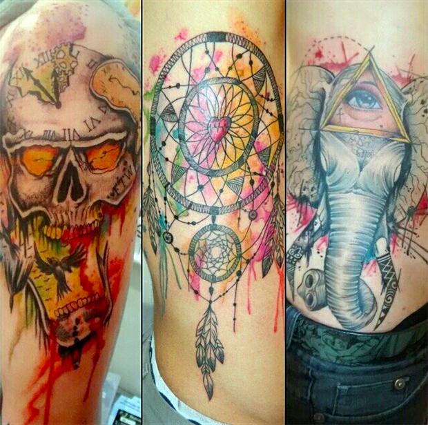 tattoo aquarela watercolor jorge Mitsunaga