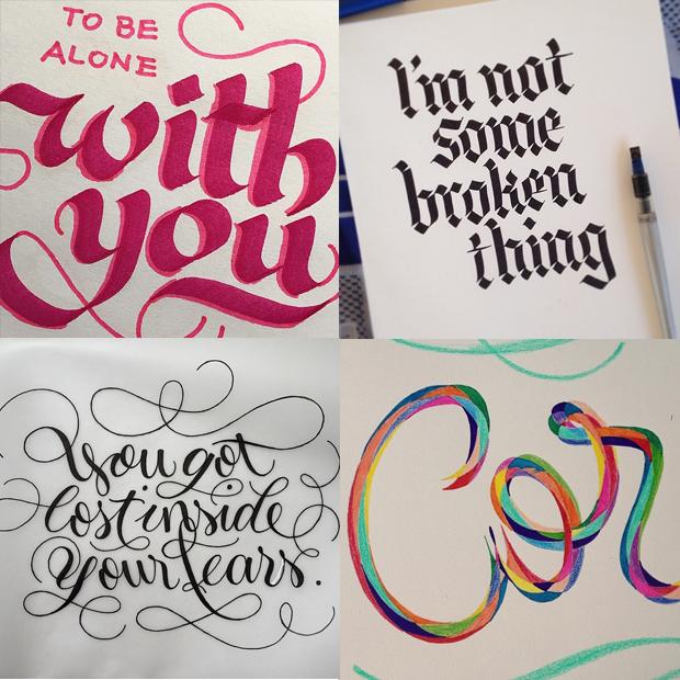 tipógrafos brasileiros calígrafos handlettering instagram Marina Chaccur