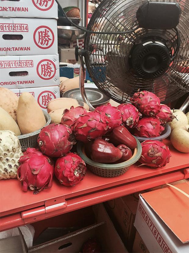 Hong Kong viagem fruta dragão