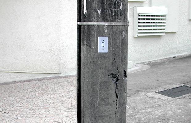 intervenções Poro interruptor de poste