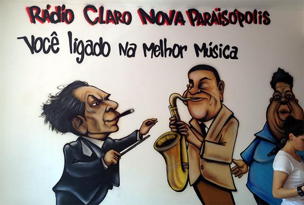visita comunidade Paraisópolis convite LG rádio comunitária