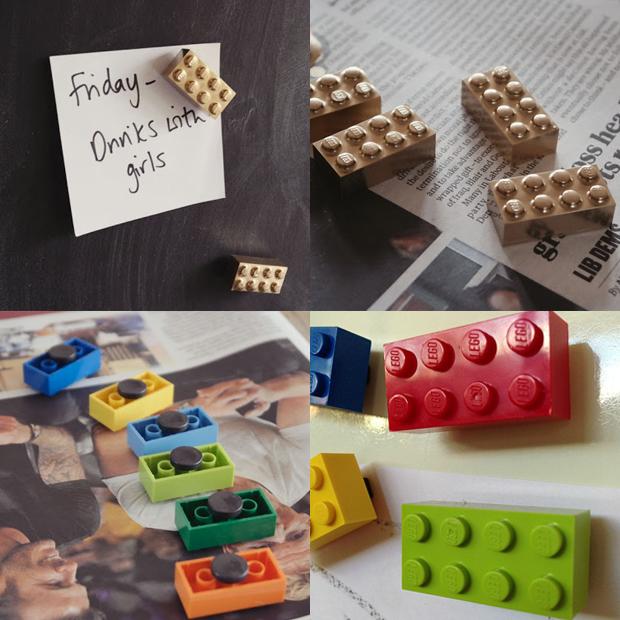 lego hacks ímãs de geladeira