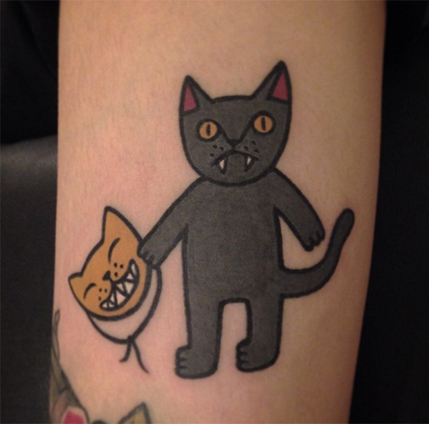 Jiran Yang panther tattoo