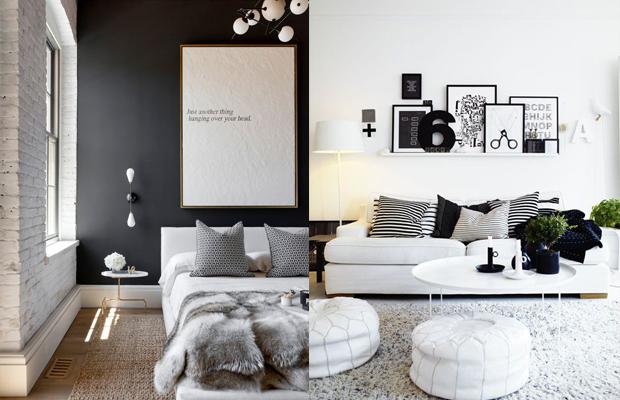 tendência de decoração em 2016 tons neutros branco preto