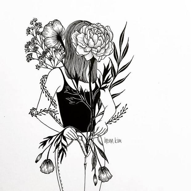 Conheça Henn Kim e suas ilustrações em P&B repletas de