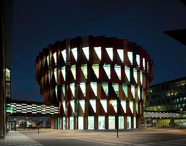 Kuggen arquitetura colorida em Gotemburgo Suécia