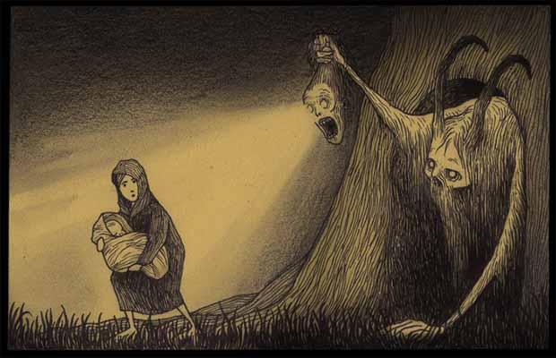 Arte No Post It Os Desenhos Obscuros E Sombrios De John Kenn