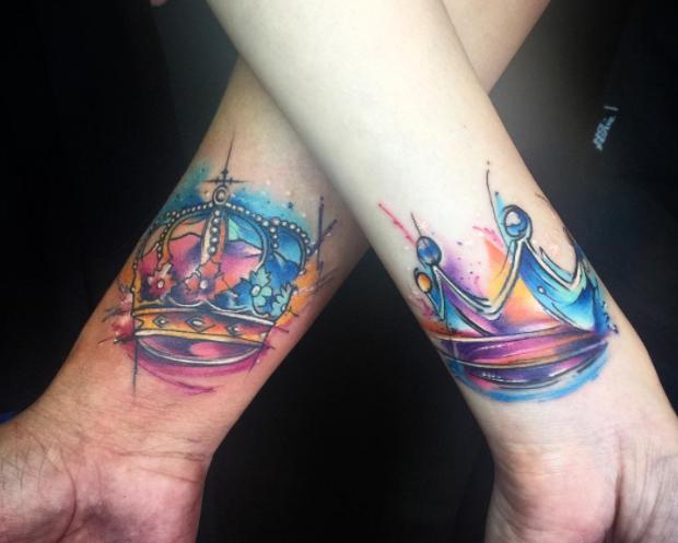 Tattoo De Diamante No Braco