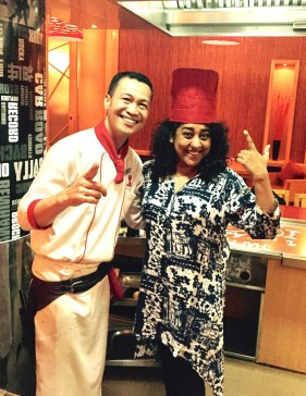 Who's the Chef now? With Chef Rene from Tokyo, Philippines as he likes to call it. Benihana