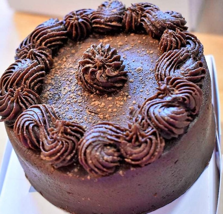 Chocolate Cake from the Bread Basket Cafe and Bakery